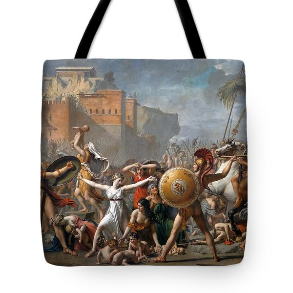 The Intervention Of The Sabine Women Tote Bag