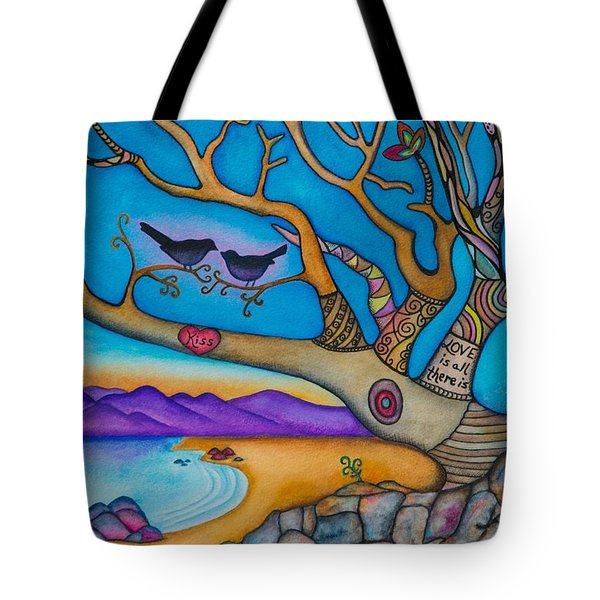 The Kiss And Love Is All There Is Tote Bag