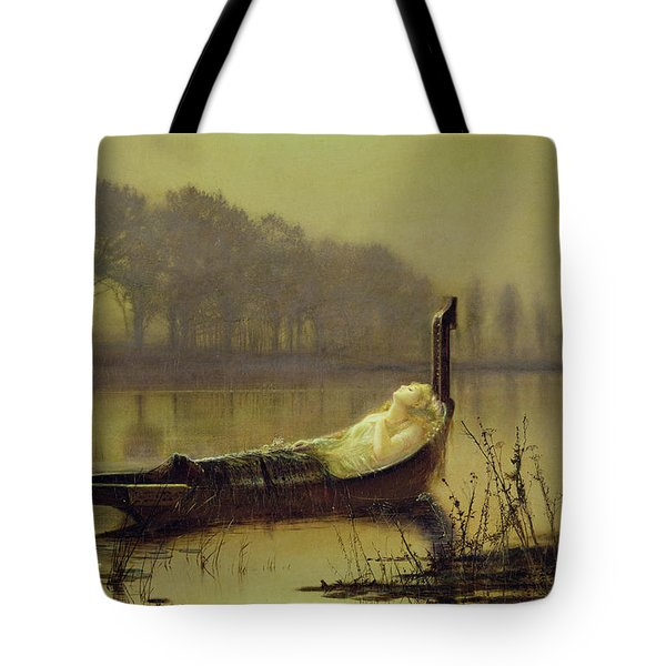 The Lady Of Shalott Tote Bag by John Atkinson Grimshaw