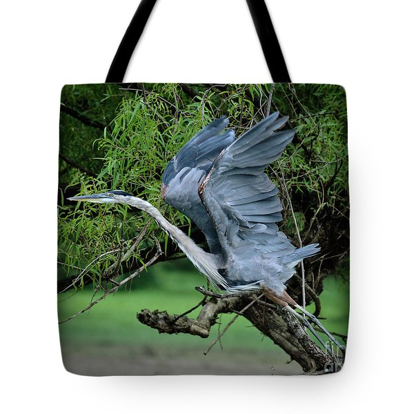 Tote Bag featuring the photograph The Launch by Douglas Stucky