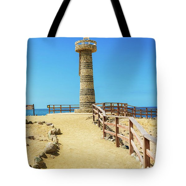 The Lighthouse In Salinas, Ecuador Tote Bag