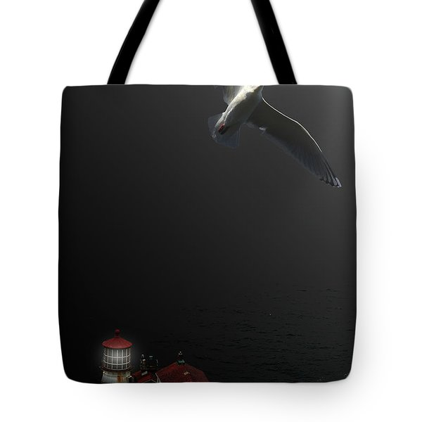 The Lighthouse Tote Bag by Wingsdomain Art and Photography