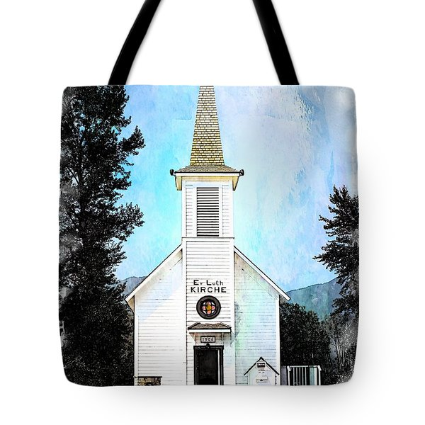 The Little White Church In Elbe Tote Bag by Joseph Hendrix