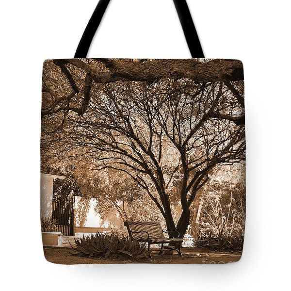 The Lonely Bench Tote Bag by Donna Greene