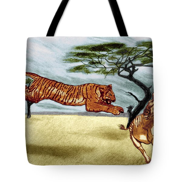 The Lunge Tote Bag by Peter Piatt