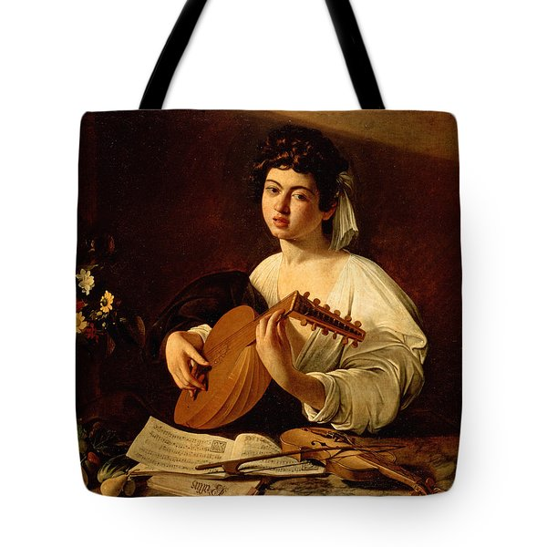 The Lute-player Tote Bag by Caravaggio