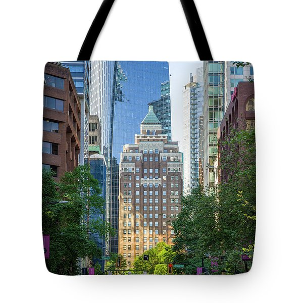 Tote Bag featuring the photograph The Marine Building by Ross G Strachan