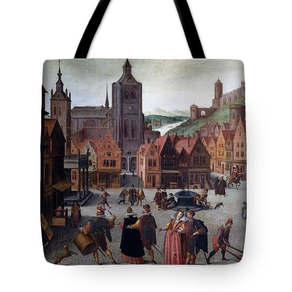 The Marketplace In Bergen Op Zoom Tote Bag