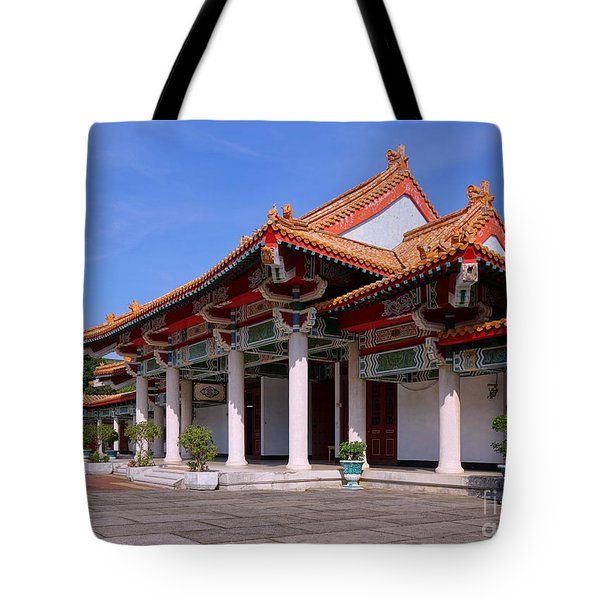 Tote Bag featuring the photograph The Martyr Shrine In Kaohsiung City by Yali Shi
