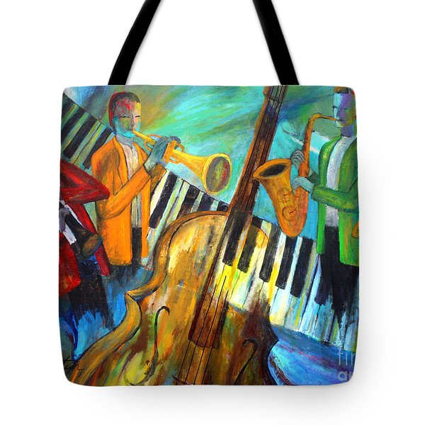The Midnight Jazz Sextet Tote Bag