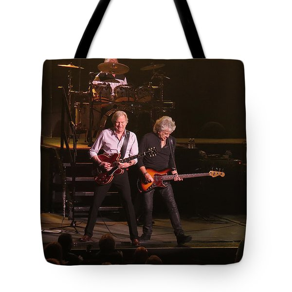 Tote Bag featuring the photograph The Moody Blues Live In Atlantic City by Melinda Saminski