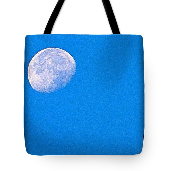 The #moon This #morning. #bluesky Tote Bag