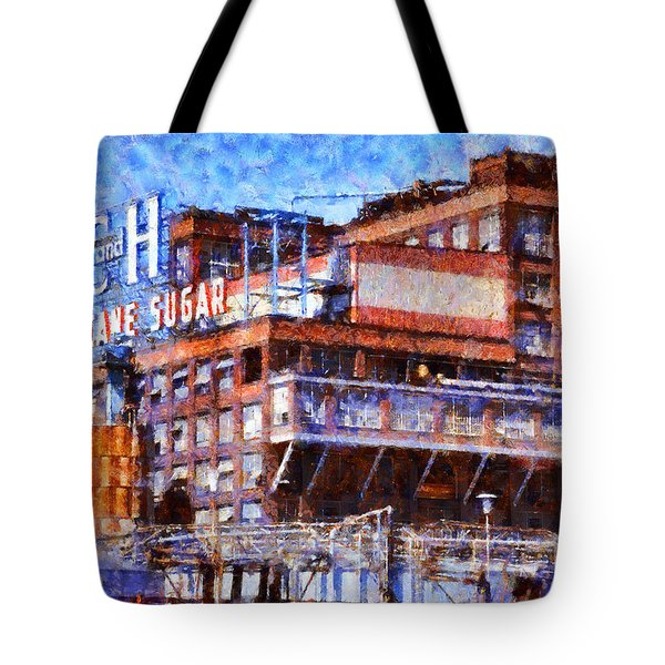 The Old C And H Pure Cane Sugar Plant In Crockett California . 5d16769 Tote Bag