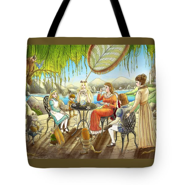 The Palace Garden Tea Party Tote Bag by Reynold Jay