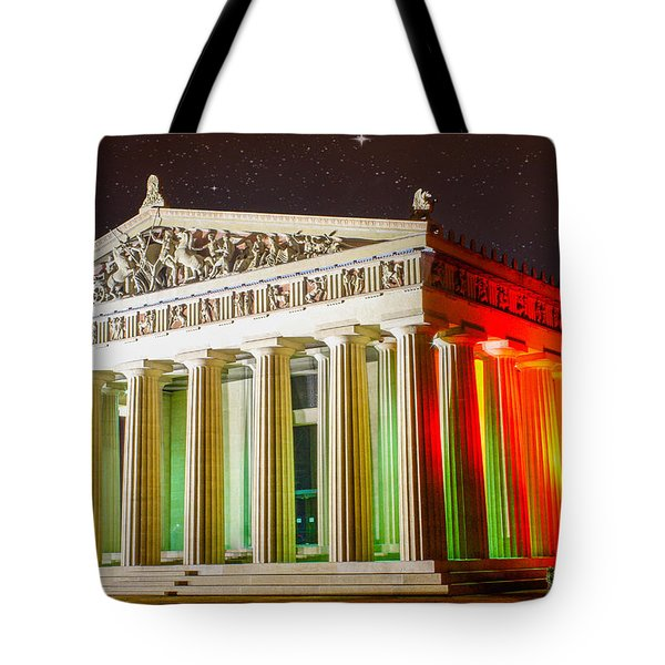 The  Parthenon Under The Stars Tote Bag