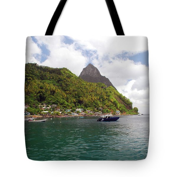 Tote Bag featuring the photograph The Pilons by Gary Wonning