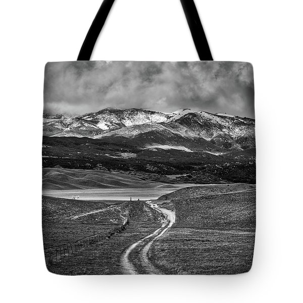 Tote Bag featuring the photograph The Road That Leads You Home by Peter Tellone