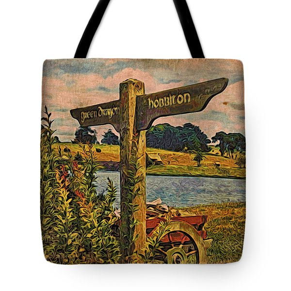 Tote Bag featuring the digital art The Road To Hobbiton by Kathy Kelly