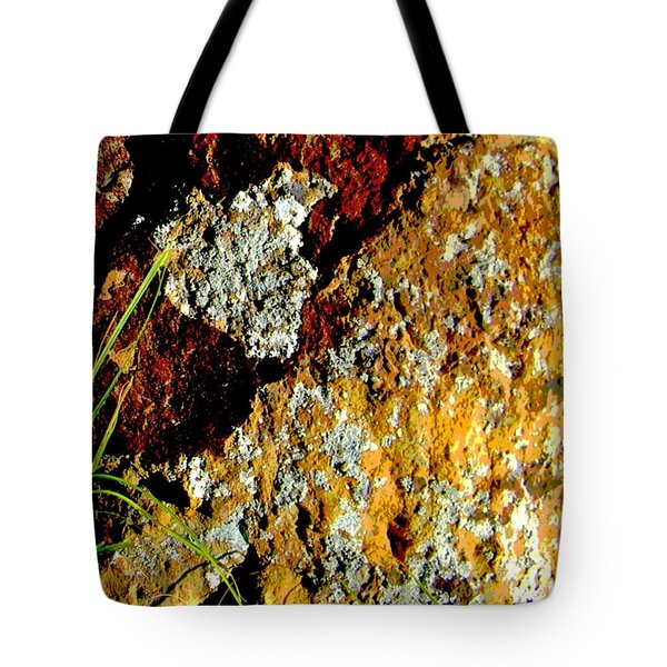 Tote Bag featuring the photograph The Rock by Lenore Senior
