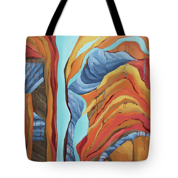 Tote Bag featuring the painting The Rocks Cried Out, Zion by Erin Fickert-Rowland
