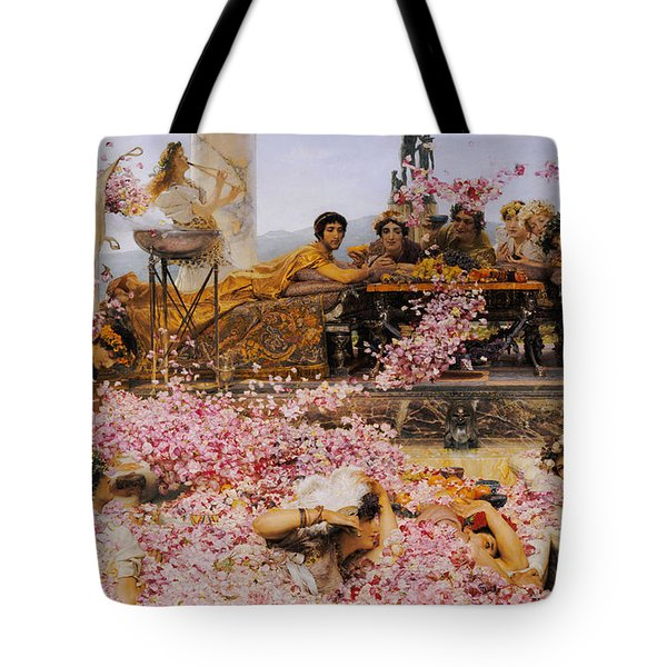 The Roses Of Heliogabalus Tote Bag by Lawrence Alma-Tadema