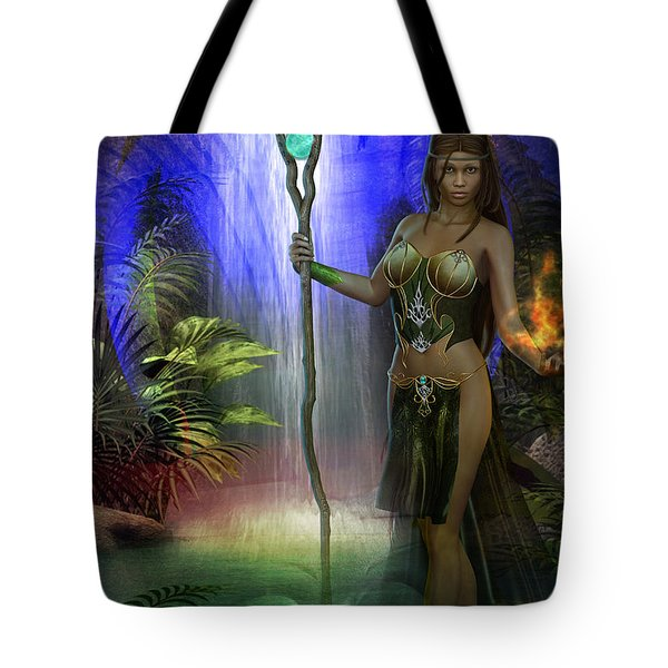 Tote Bag featuring the digital art The Secret Garden by Shadowlea Is