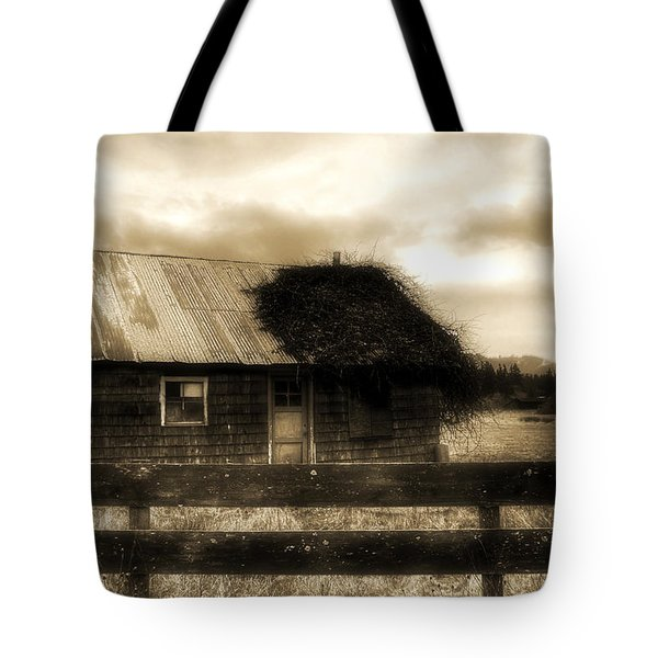 Tote Bag featuring the photograph The Shack by Tyra OBryant