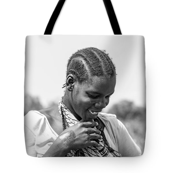 Tote Bag featuring the photograph The Shy One by Pravine Chester