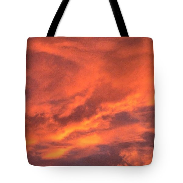 The #sky Has Been On #fire In Tote Bag