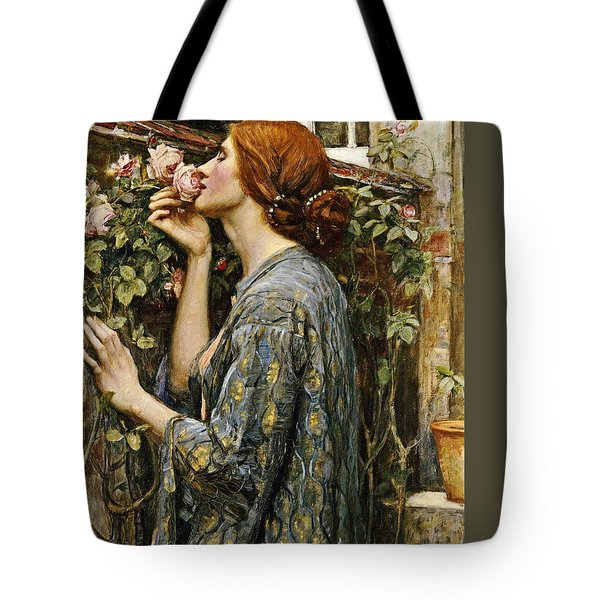 The Soul Of The Rose Tote Bag by John William Waterhouse