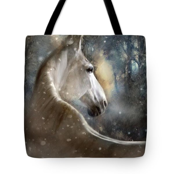 The Spirit Of Winter Tote Bag by Dorota Kudyba
