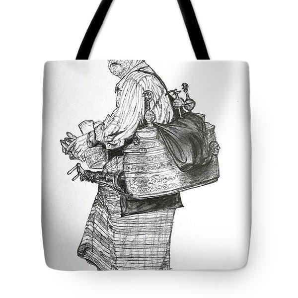 The Souss Vendor The Tea Man Tote Bag