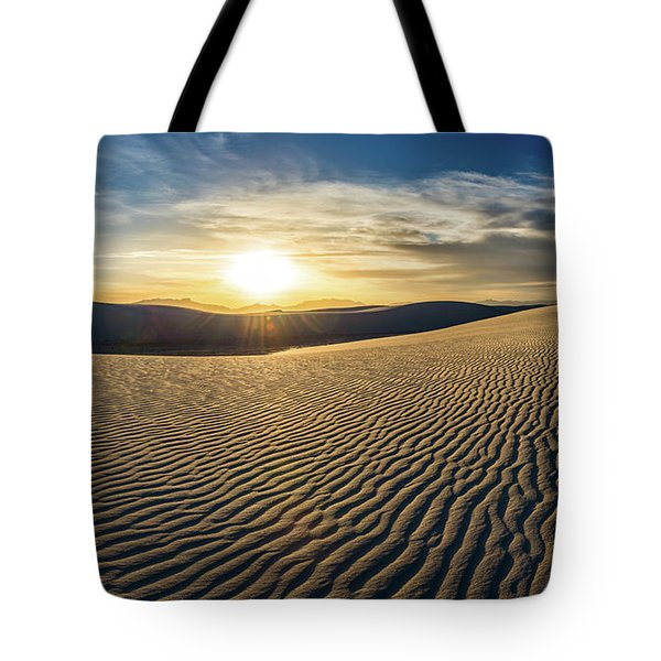 The Unique And Beautiful White Sands National Monument In New Me Tote Bag