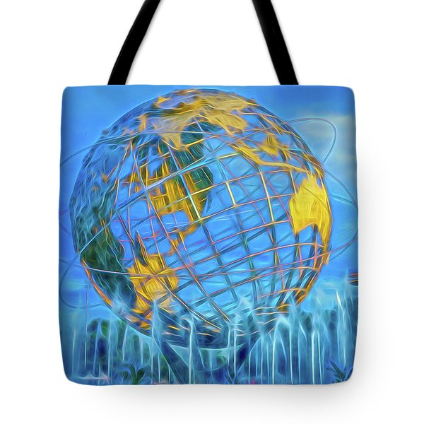 Tote Bag featuring the photograph The Unisphere by Theodore Jones
