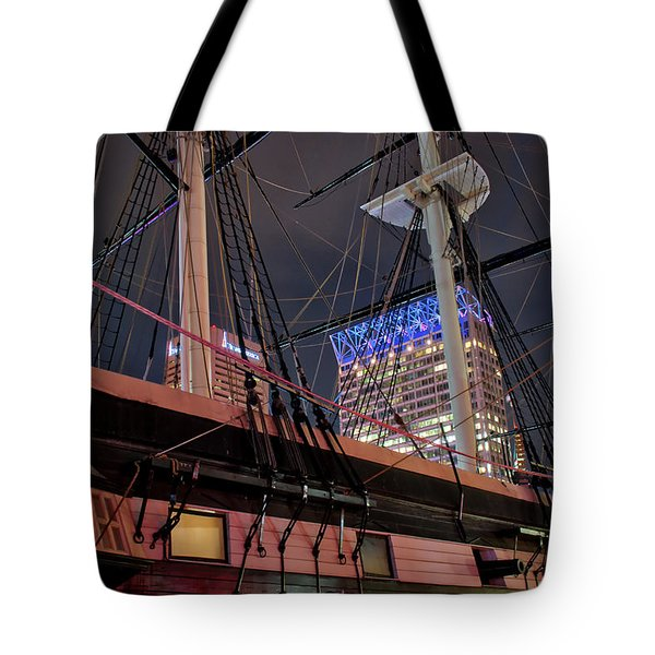 Tote Bag featuring the photograph The Uss Constellation by Mark Dodd