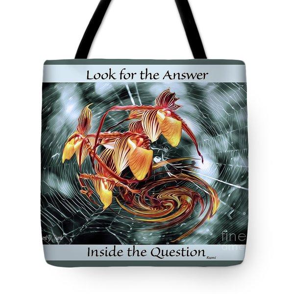 The Web Of Life Tote Bag