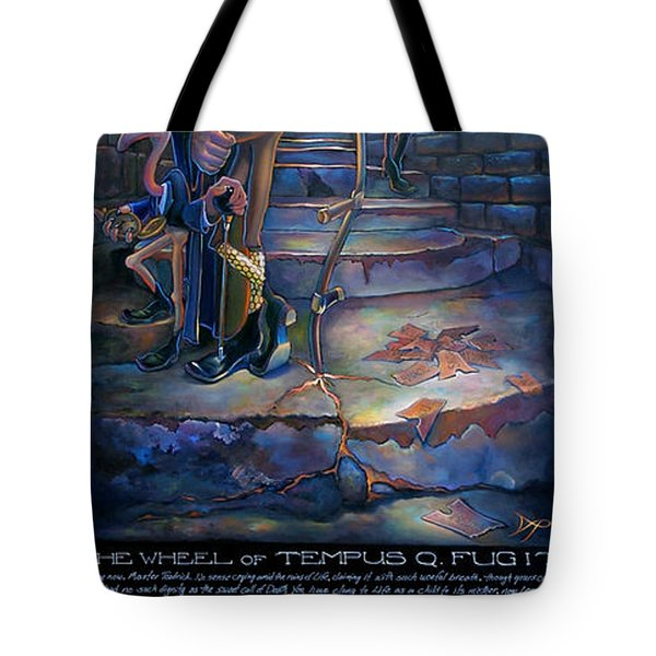 The Wheel Of Tempus Q. Fugit Tote Bag by Patrick Anthony Pierson