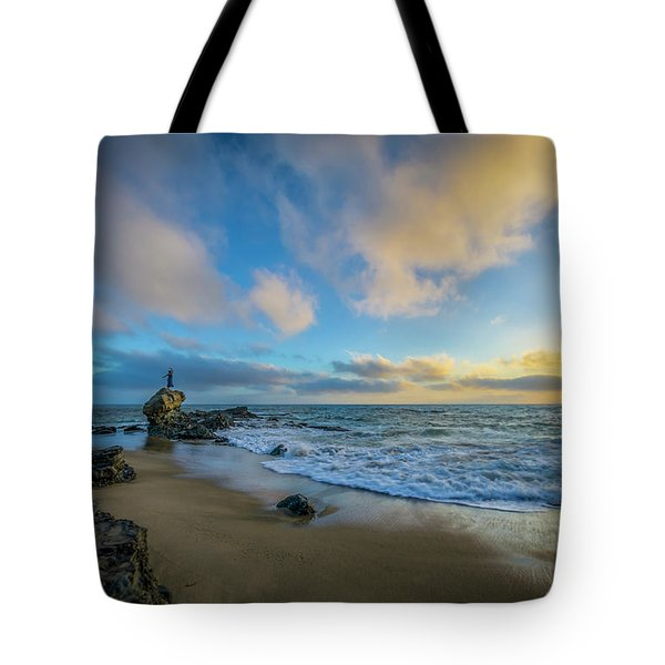 The Woman And Sea Tote Bag by Sean Foster