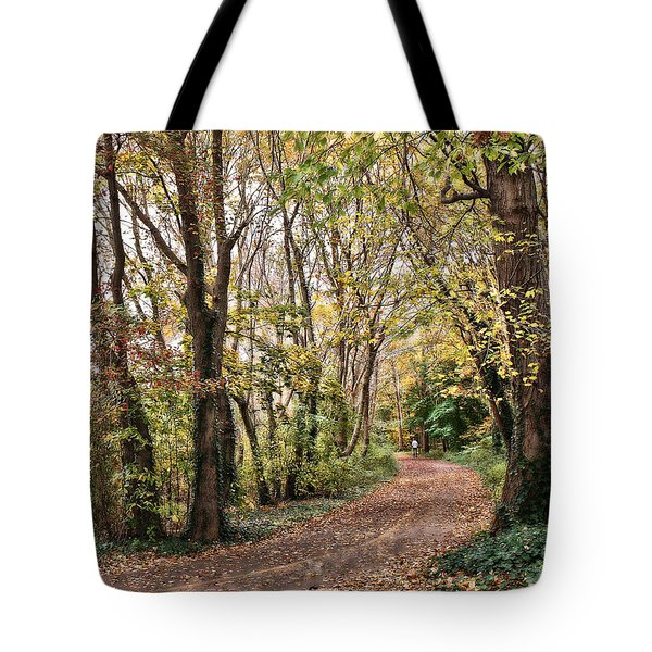 The Woods In Autumn Tote Bag by Mikki Cucuzzo