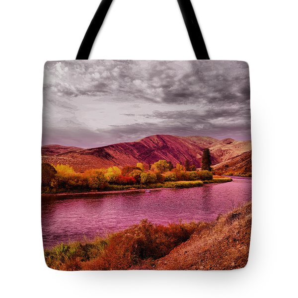 Tote Bag featuring the photograph The Yakima River by Jeff Swan