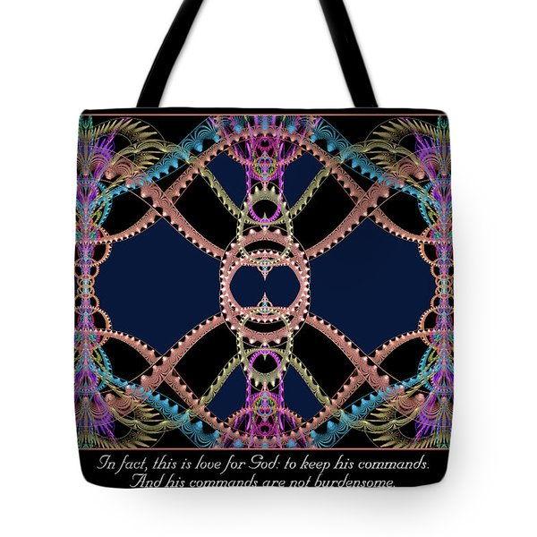 Tote Bag featuring the digital art This Is Love by Missy Gainer