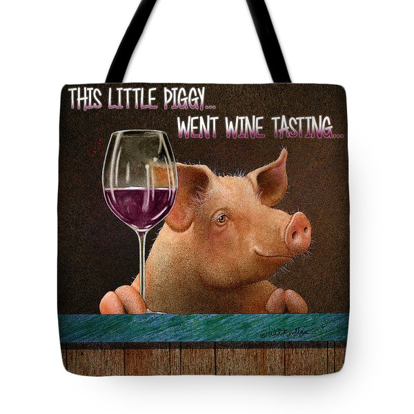 This Little Piggy Went Wine Tasting... Tote Bag