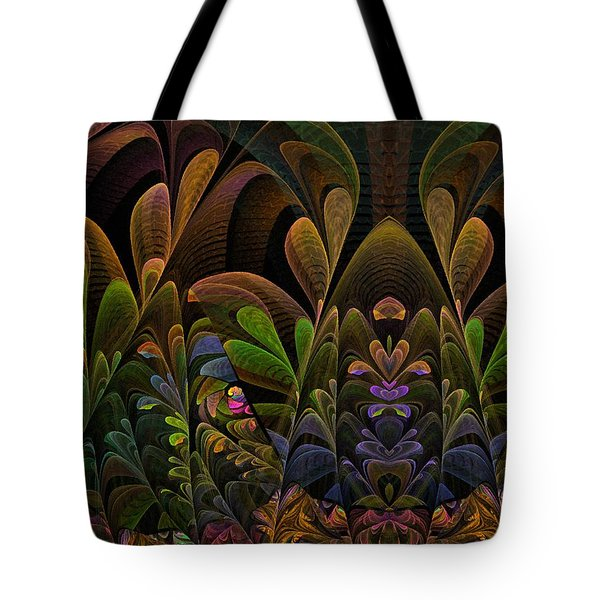 Tote Bag featuring the digital art This Peculiar Life - Fractal Art by NirvanaBlues