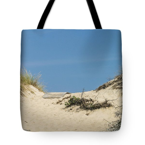 Tote Bag featuring the photograph This Way To The Beach by Michelle Wiarda