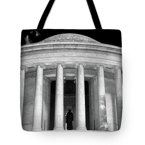 Tote Bag featuring the photograph Thomas Jefferson Memorial  by Mitch Cat