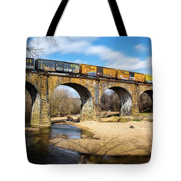 Tote Bag featuring the photograph Thomas Viaduct Panoramic by Dennis Dame
