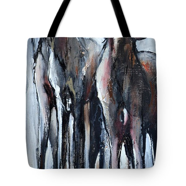 Tote Bag featuring the painting Three by Cher Devereaux
