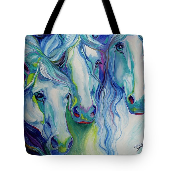 Three Spirits Equine Tote Bag by Marcia Baldwin