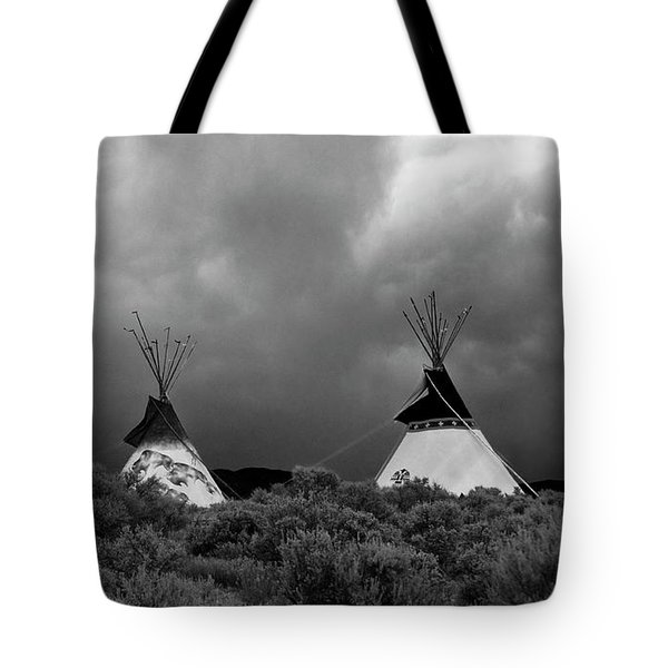 Three Teepee's Tote Bag by Carolyn Dalessandro