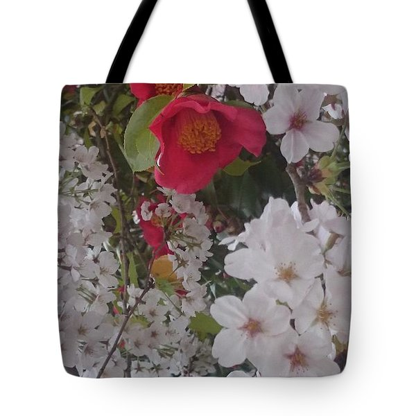 Thubaki Means Camellia Tote Bag